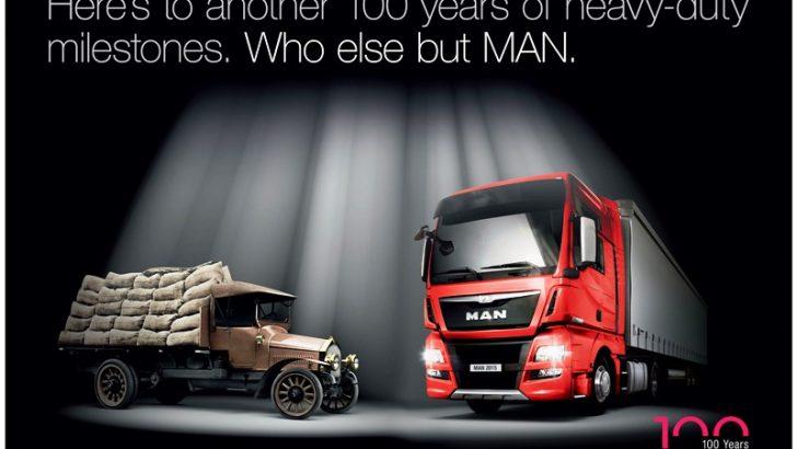 """MAN kamyon ve otobüslerinde 100. Yıl: """"Geleceğe hazır"""""""