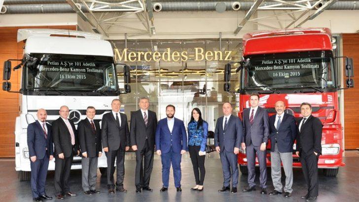 Mercedes-Benz kamyonları Petlas'a güç katıyor