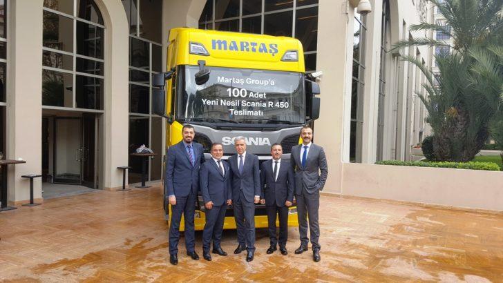 MARTAŞ GROUP'A 100 ADET YENİ NESİL SCANIA TESLİMATI