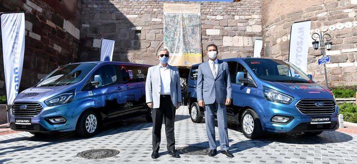 Elektrikli Transit Custom Ankara'da hizmete başladı