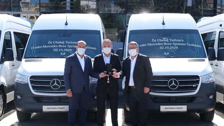 Öz Uludağ Turizm'e 15 adet Mercedes-Benz Sprinter teslimatı gerçekleştirildi