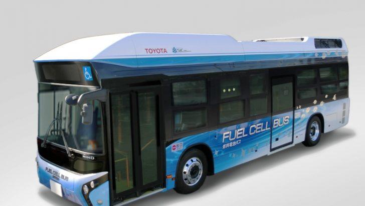 Toyota'nın Hidrojen Yakıt Teknolojisi Şimdi de Otobüslerde Kullanılıyor