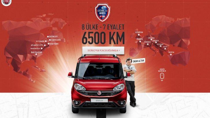 """Yeni Fiat Doblò Amerika yolunda,  yol macerası """"dobloamerikaya.com""""da!.."""