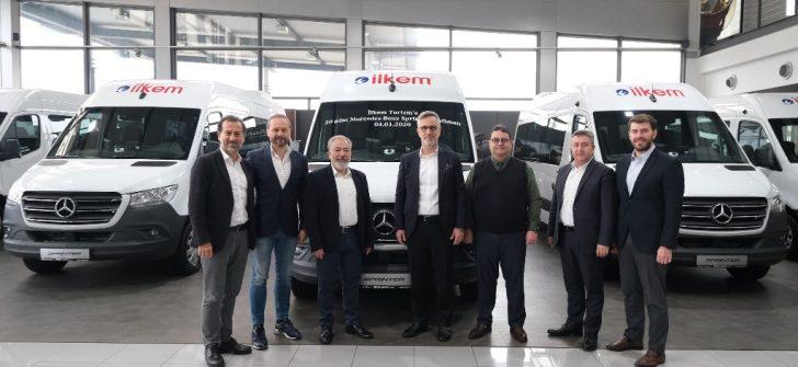 Mercedes Benz Otomotiv Ticaret ve Hizmetler A.Ş., 2020'nin ilk teslimatını İlkem Turizm'e 20 adet Yeni Sprinter ile gerçekleştirdi